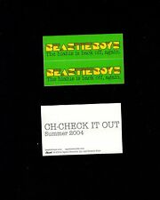 Two Small Beastie Boys Summer 2004 Limited Promotional Stickers Decals Fan Gift