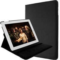 Black Case for Apple iPad 2, 3, 4 and Retina with Kickstand