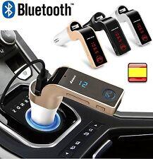 Bluetooth para coche Transmisor FM Adaptador de Radio Cargador USB Micro SD