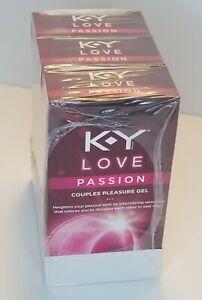 3 X K-Y Love Passion Couples Pleasure Gel 1.69 oz ea box Intense Sensation