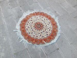 Antique Rug 3.5ft.,Turkish Rug,Vintage Rug,Unique Rug,Turkey Floor Mat,Round Rug