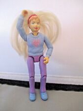 Fisher Price Family Dollhouse Sister Girl Teen Rooted Blond Hair Blue Sweater