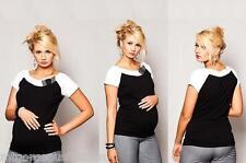 New Maternity Womens Elegant Tops Blouse Shirt Short Sleeve size S/M/L 8/10/12