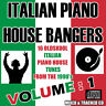 italian PIANO HOUSE Bangers VOL 1 Music CD Mix 1990's OLD SKOOL ITALO TUNES NEW