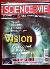Science et vie n°1023 du 12/2002; Dossier Adieu les lunettes !/ Antimatière