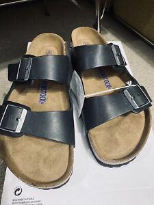 Birkenstock Black Soft Footbed Arizona BS Size 43 EUR/28 CM/10-10.5 US Mens