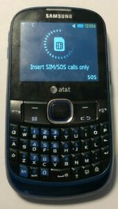 READ 1ST Samsung Propel SGH-A187 Cell Phone Blue (AT&T) Fast Ship Very Good Used