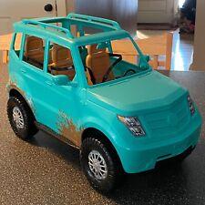 Barbie Mattel Camping Fun Jeep Teal Blue Off Road Adventure Vehicle