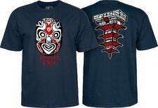 Powell Peralta Skateboards Old School Animal Chin Mask Reissue T-Shirt Navy Blue