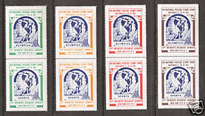 US MNH. 1961 ASDA Labels, perforated vertical pairs, complete set, VF