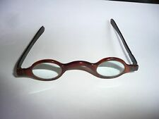 ANTIQUE FAUX TORTOISE SHELL MAGNIFYING SPECTACLES  EYE GLASSES  [ JEWELERS ? ]