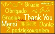 WALMART THANK YOU DANKE OBRIGADO GRACIAS MERCI RARE YELLOW COLLECTIBLE GIFT CARD