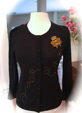 *KATE SPADE NY* Black EMBELLISHED Jeweled QUEEN BEE Cardigan SWEATER! XS RARE🐝