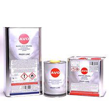 2K AVO Klarlackset 8,5 Liter Autolack Set mit Härter und Verdünnung A003S