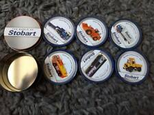 BRAND NEW Atlas Editions  World of Stobart Full Set 6 Corked Coasters in a Tin