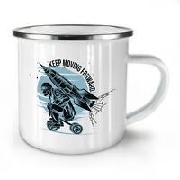 Keep Moving Forward NEW Enamel Tea Mug 10 oz | Wellcoda