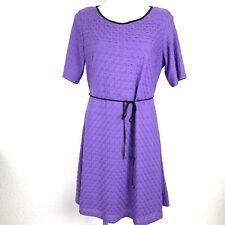 BLAIR Purple Stretch Textured Women Flare Dress. Size 14P. NWOT.