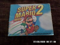Super Mario Bros. 2 Brothers (NES Nintendo) Instruction Manual Only.. NO GAME