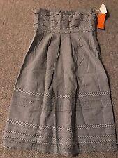 CYNTHIA  STEFFE  LADIES GREY & WHITE STRAPLESS DRESS  SIZE 4  NWT
