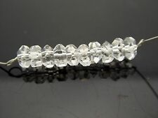 10 Beads Genuine Herkimer Diamond Clear Quartz 4mm Faceted Rondelle High Quality