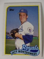 1989 Topps Jeff Montgomery Kansas City Royals Wrong Back Error Baseball Card