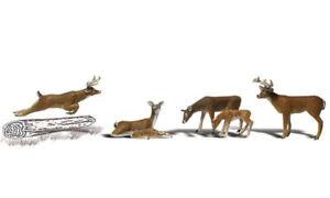 Woodland Scenics ~ HO Scale Animals ~ Deer ~ A1884