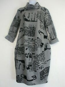 COWL NECK LAGENLOOK WINTER WEIGHT POCKETS 95% COTTON DRESS ONESIZE:REGULAR:12-16