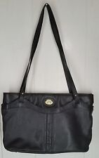 Etienne Aigner black leather purse double strap handbag