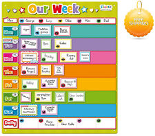 Autism Magnetic Planner Weekly Activity Chart Our Week Visual Reminder Kids Aid
