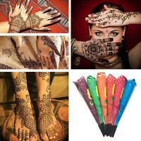 Natural Herbal Henna Cones Temporary Tattoo Art Mehandi Ink Body Paint Kit NEW B