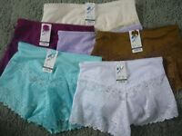 ladies french knickers 5 colours 8 to 16 just very pretty (1518)
