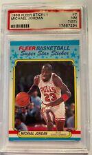 1988 Fleer Basketball Sticker #7 Michael Jordan PSA 7 (ST) NM Near Mint