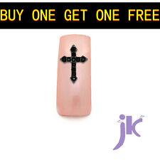Buy 1 Get 1 Free/ 5Pcs Cross Nail Art Rhinestones 3D Glitter Slices Decorations