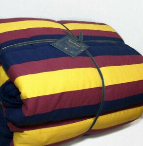 Pottery Barn Teen Harry Potter Hogwarts Multi Colors Stripe Twin Quilt Sham New