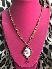Tarina Tarantino Pink Head Collection Hello Kitty Heart Lolita Cameo Necklace