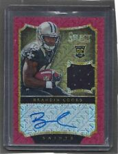 BRANDIN COOKS 2014 PANINI SELECT RED MOJO PRIZM ROOKIE JERSEY AUTO RC #D 3/15