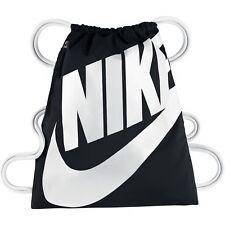 Nike Heritage Sportbeutel Turnbeutel Gym Bag Gymsack Gymback Sporttasche schwarz