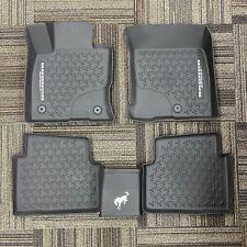 2021 Bronco Sport OEM Genuine Ford Tray Style Molded Black Floor Mat Set 4-pc