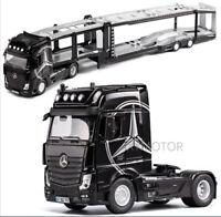 1/32 Benz Double Deck Truck Vehicle Trailer Separable Diecast Model Car 66cm