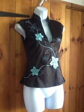 Jane Norman Cap Sleeve Hip Length Floral Women's Tops & Shirts