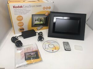 """Kodak EasyShare SV811 8"""" Digital Picture Frame Turns On Not Tested Sold As Is"""
