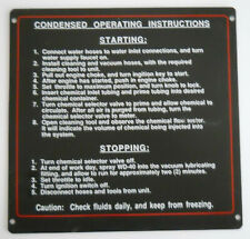 New Old Stock Nos Prochem Truckmount Condensed Operating Instructions Panel