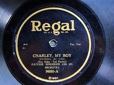 PREWAR JAZZ 78: FLETCHER HENDERSON Charley, My Boy/MISSOURI JAZZ BAND Regal 9680