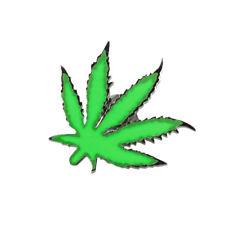 Lucien Pellat-Finet Silver Neon Green Marijuana Leaf Singular Earring Stud
