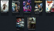 Uplay account 7 Games/The crew, figuras assassins creed 3 III, Prince of Persia, Rayman