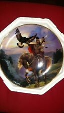 Franklin mint plate set, Native American themed, set of 3