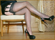 Gio Fully Fashioned Stockings - BARELY BLACK - Imperfects - NYLONZ