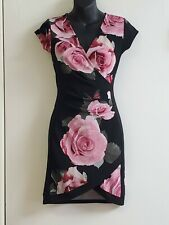 Guc Crave Fame by Almost Famous Womens Black Floral Party Dress Juniors Size S