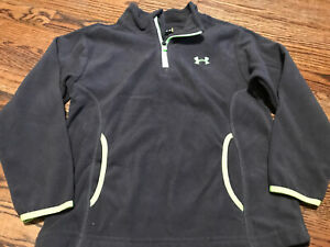 Girls Under Armour Gray Lime Green Sweatshirt Hoodie School Clothes Size 5
