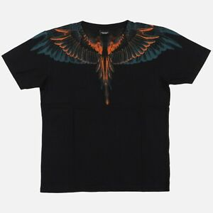 Marcelo Burlon Blue and Orange Alas Wings T-Shirt   Size S Relaxed fit FW15